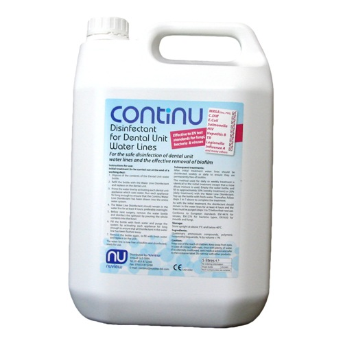 Continu Disinfectant For Dental Unit Water Lines 5 Litres