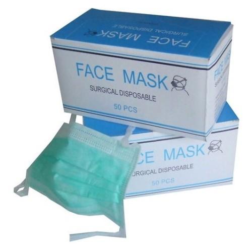 NovahDent - 3 ply Non Woven Face Masks Tie-on Green 500x500