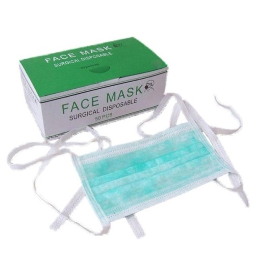 50pk Tie-on Novahdent Face Blue Non-woven Masks
