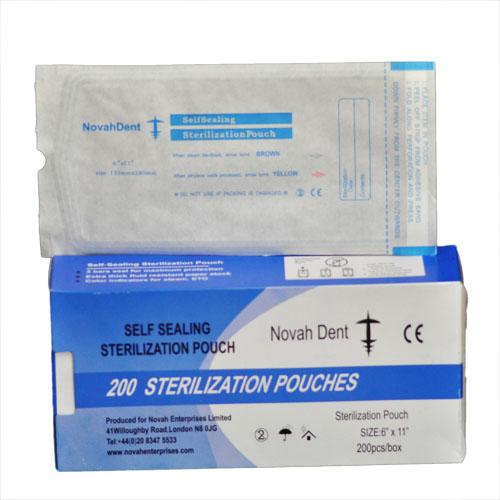 NovahDent - Self Seal Sterilisation Pouches 135x280mm